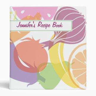 Fruit and Veggie Recipe Book 3 Ring Binder