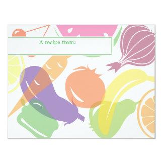 Fruit and Veggie Recipe Card
