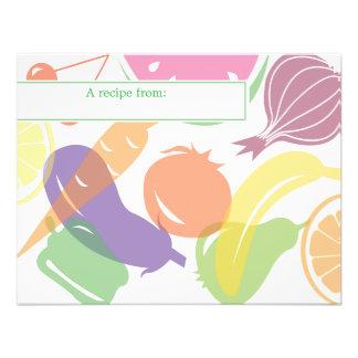 Fruit and Veggie Recipe Card Custom Invite