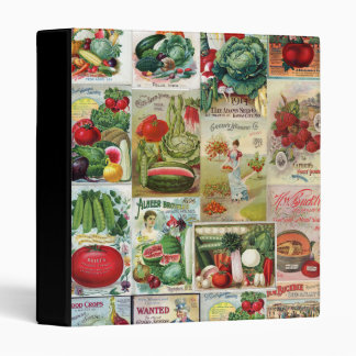 Fruit and Veggies Seed Catalog Collage Binder