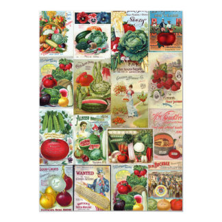 Fruit and Veggies Seed Catalog Collage Card