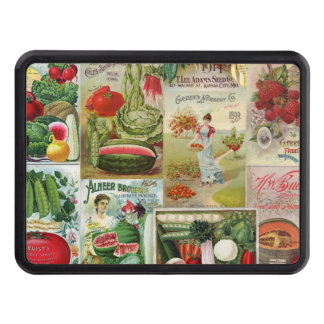 Fruit and Veggies Seed Catalog Collage Hitch Covers