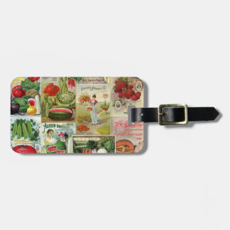 Fruit and Veggies Seed Catalog Collage Luggage Tag