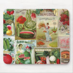 Fruit and Veggies Seed Catalog Collage Mouse Pads