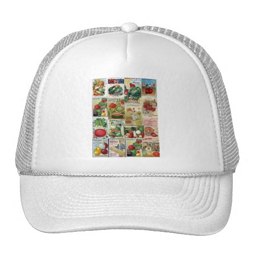 Fruit and Veggies Seed Catalog Collage Trucker Hat