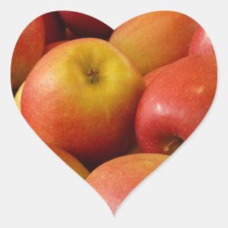 Fruit Apples Autumn Colors Destiny Heart Sticker