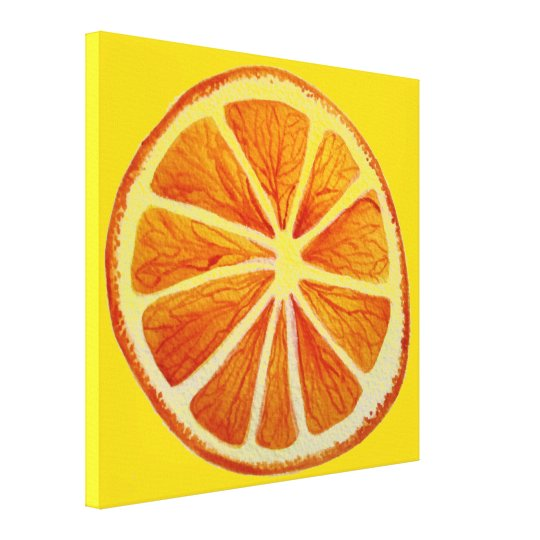 Fruit Art Orange Citrus Watercolor Art Pop Art Canvas Print