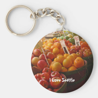 Fruit at Pikes Place Market Key Chains