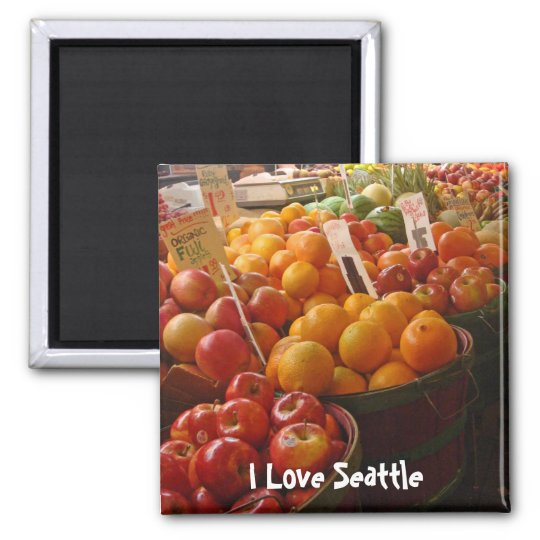Fruit at Pikes Place Market Magnet