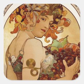Fruit - Autumn 1897 Square Sticker