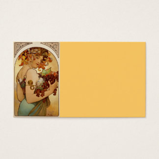 Fruit - Autumn c1897 Business Card