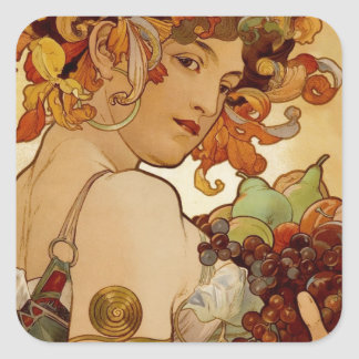Fruit - Autumn - circa 1897 Square Sticker