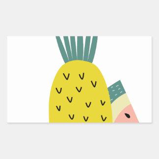 Fruit balloons rectangular sticker