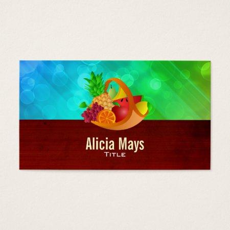 Fruit Basket Farmer's Market Business Cards