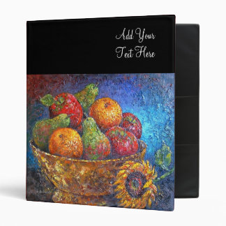 Fruit Basket Painting Art - Multi 3 Ring Binders