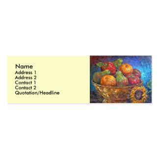 Fruit Basket Painting Art - Multi Business Card Template