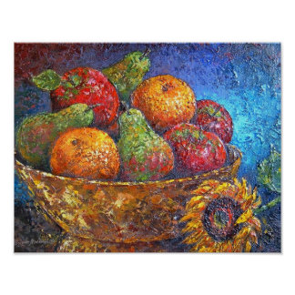 Fruit Basket Painting Art - Multi Posters