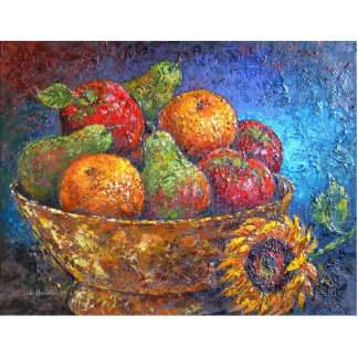 Fruit Basket Painting Art - Multi Statuette