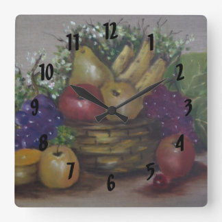 fruit basket wall clock