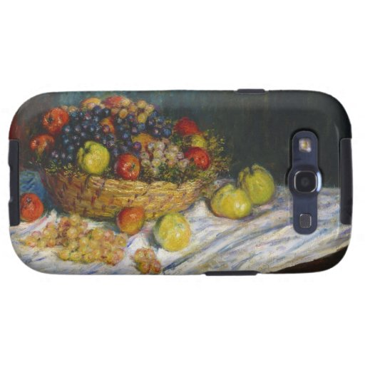 Fruit Basket with Apples and Grapes Claude Monet Galaxy S3 Covers