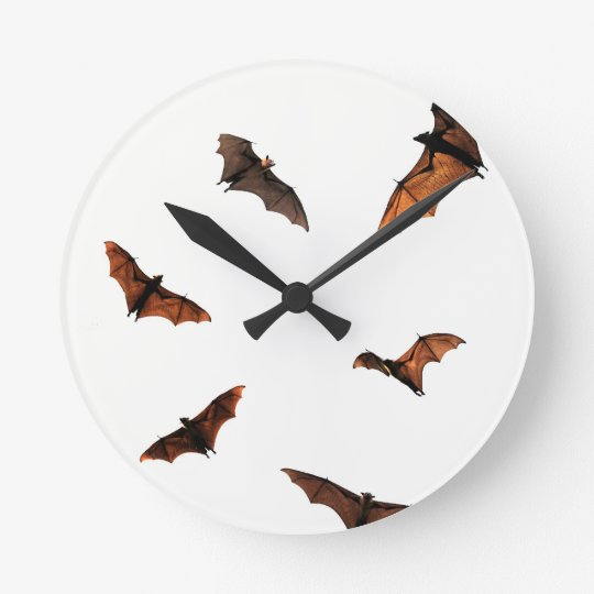 Fruit Bats (Flying foxes) Round Clock