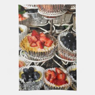 Fruit Berry Tarts Hand Towels