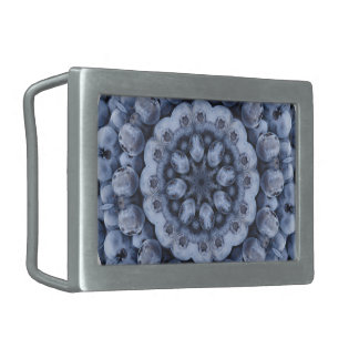 FRUIT BOHEMIAN KALEIDOSCOPIC GEOMETRIC MANDALA RECTANGULAR BELT BUCKLE