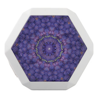 FRUIT BOHEMIAN KALEIDOSCOPIC GEOMETRIC MANDALA WHITE BLUETOOTH SPEAKER