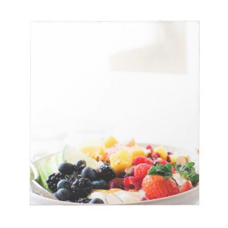 Fruit Bowl Breakfast Food Snack Nutrition Diet Notepad