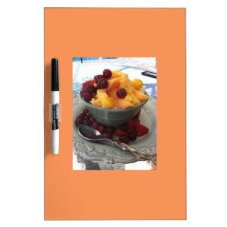 fruit bowl dry erase board