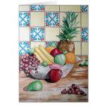 Fruit Bowl Greeting Cards