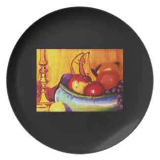 FRUIT BOWL OIL PAINTING plate