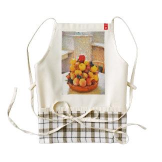 Fruit bowl painting zazzle HEART apron