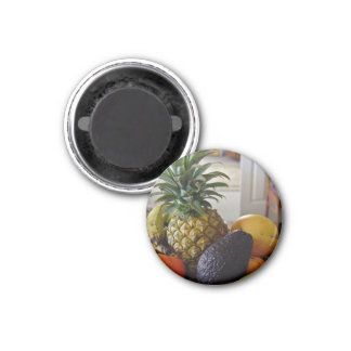 Fruit bowl with avocado foremost fridge magnets