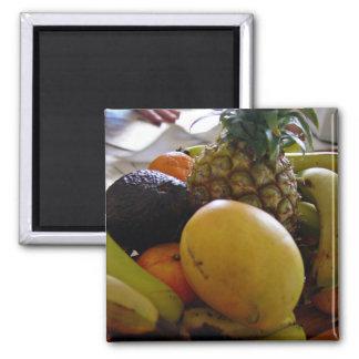 Fruit bowl with mango foremost fridge magnet