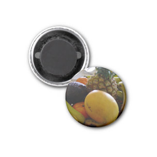 Fruit bowl with mango foremost magnets