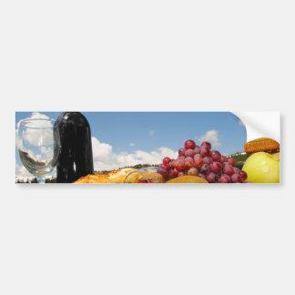 Fruit Bread And Wine Picnic Bumper Sticker