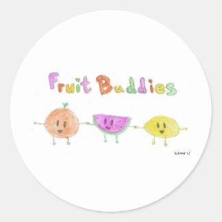 Fruit Buddies by Aubrey Classic Round Sticker