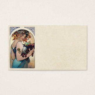 Fruit by Alfons Mucha 1897 Business Card