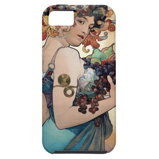 Fruit by Alfons Mucha 1897 iPhone SE/5/5s Case