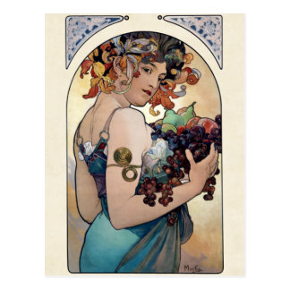 Fruit by Alfons Mucha 1897 Postcard