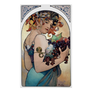 Fruit by Alfons Mucha 1897 Poster