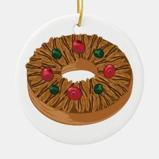 Fruit Cake Ceramic Ornament