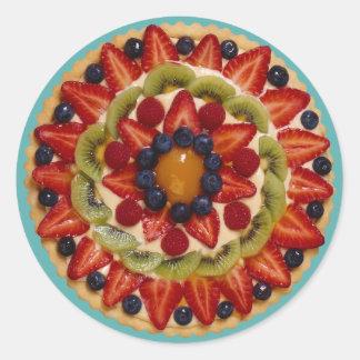 Fruit Cake Classic Round Sticker