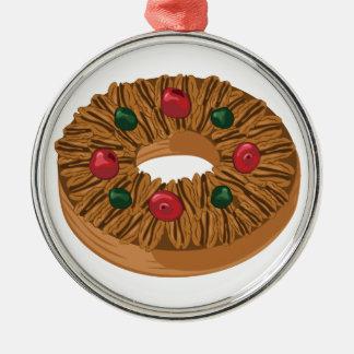 Fruit Cake Metal Ornament