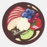 Fruit cake round stickers