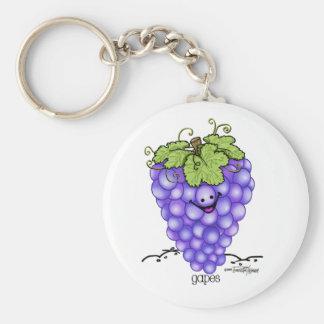 Fruit Cartoon - Grapes Keychain