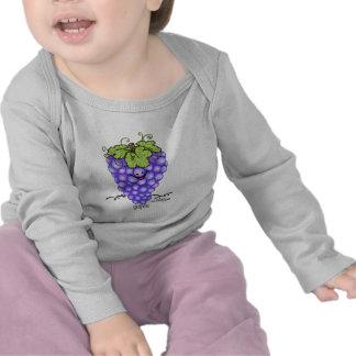 Fruit Cartoon - Grapes T-shirts