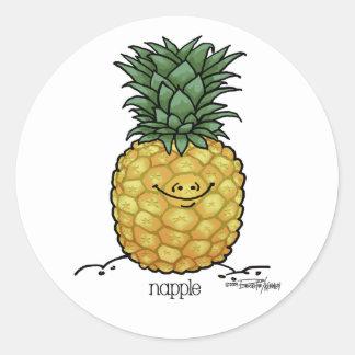 Fruit Cartoon - Pineapple fruit Classic Round Sticker