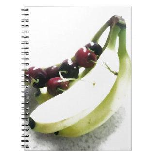 Fruit Cherries Bananas Dessert Destiny Gifts Spiral Notebook